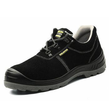 high quality men fashion big size steel toe caps work safety shoes black cow suede leather worker shoe zapatos de seguridad boot