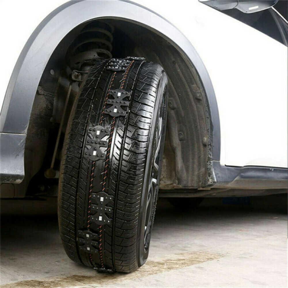 Auto Reifen Kette TPU Anti-skid Winter Schnee Eis Schlamm SUV Lkw Rad Notfall Strap 4 * Anti- skid Kette 1 Paar Handschuh 1 * Schaufel
