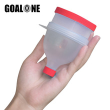 GOALONE Protein Powder Container Portable Food Storage BPA Free Plastic Container 2 in 1 Protein Powder Funnel for Shaker Bottle
