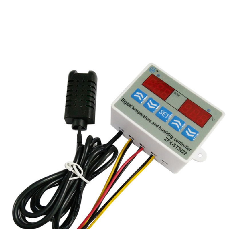 HHO-ZFX-ST3022 LED Digital Dual Thermometer Temperature Controller Thermostat Incubator Microcomputer Dual