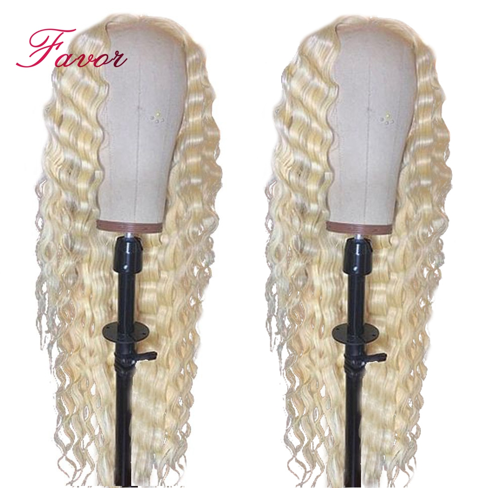 613 Blonde Lace Front Wigs With Baby Hair Remy Brazilian Deep Wave Human Hair Wigs Pre Plucked For Women 13x4 Favor Lace Wigs