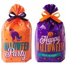 50 Pcs Halloween Bag Biscuit Packing Bags OPP Bags