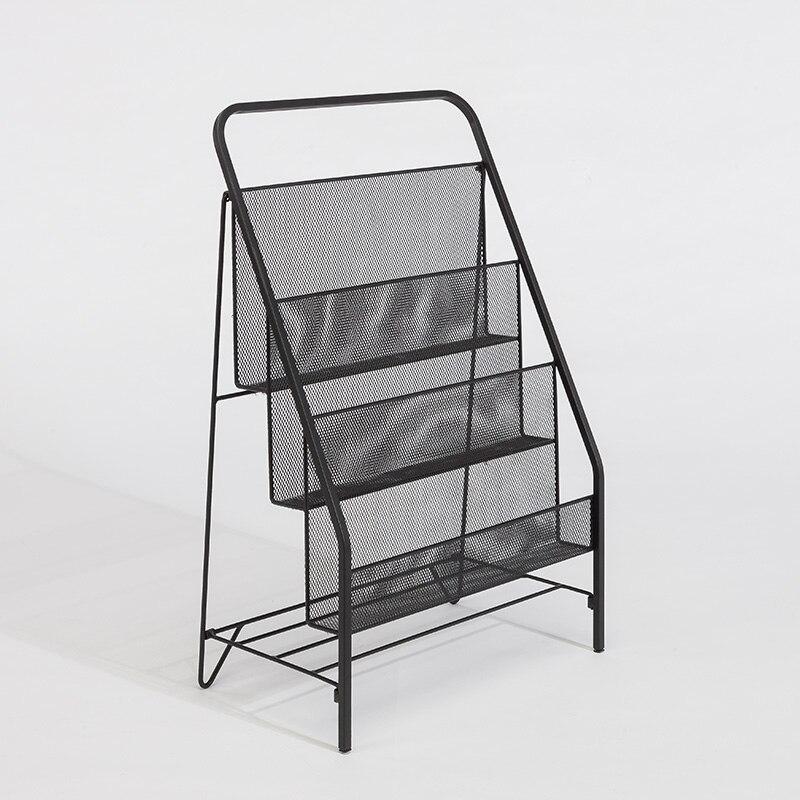 Nordic Creative Simple Iron Metal Bedroom Bedside Office Landing Magazine Shelf Children's Book And Newspaper Shelf