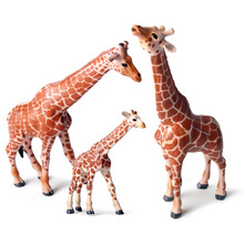 Childrens Simulation wild animal model solid environmental protection static giraffe set decoration toy
