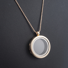 3cm Round Living Memory Photo For Floating Charm Glass Locket Pendant Necklace Gifts Women Accessories Rose Gold Chain