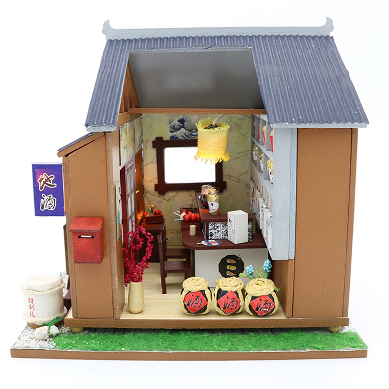 Diy Doll House Wooden Houses Miniature Dollhouse Furniture Kit Toys for Children Christmas Gift