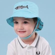Панама для мальчиков Детская летняя пляжная шляпа с широкими
