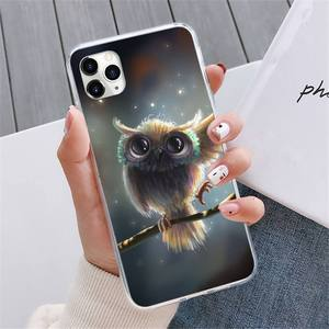 Image 4 - Animal Night Owl Lovely Phone Case For iphone 12 5 5s 5c se 6 6s 7 8 plus x xs xr 11 pro max mini