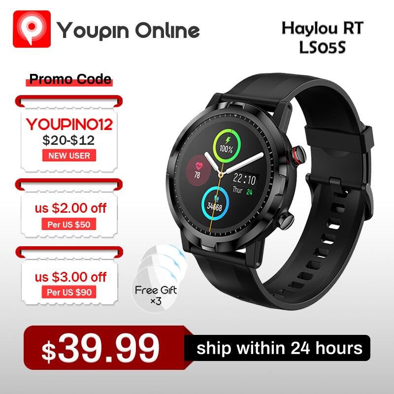 Новинка 2021, Смарт-часы Haylou RT LS05S, спортивный пульсометр, монитор сна, водонепроницаемость IP68, Поддержка iOS, Android, Xiaomi Youpin