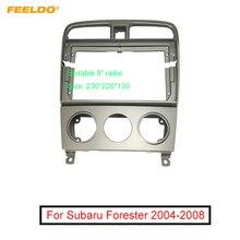 """FEELDO Auto Audio Radio 9 """"Großen Bildschirm 2DIN Fascia Rahmen Adapter Für Subaru Forester 2004 DVD Player Dash Montage panel Rahmen Kit"""