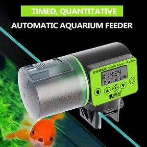 200ML Automatic Fish Feeder Aquarium Feeder Fish Tank Auto Feeding Dispenser with LCD Indicates Timer Aquarium Accessories