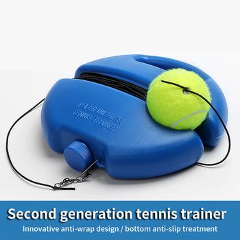 Piłka tenisowa do ćwiczeń wytrzymała piłka wielofunkcyjna praktyczna deska do samodzielnego treningu wygodne przenośne urządzenie do samodzielnego nauki tenisa tanie i dobre opinie Innych Tennis Self-study Device Exercise Tennis Ball Convenient Tennis Sport Ball Self-study Rebound