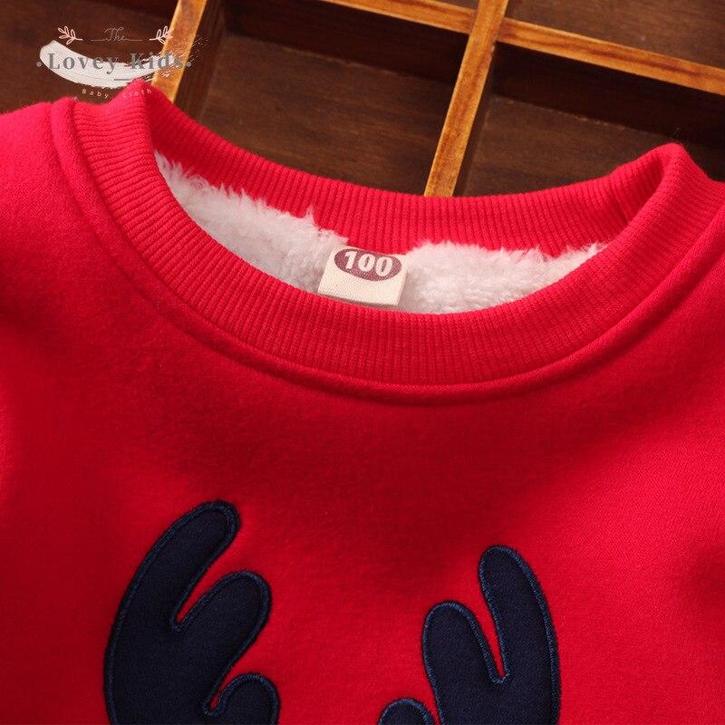 2020 Baby Girl Boy Sweatshirts Pullover Christmas Xmas Deer Print Winter Warmer Long Sleeve Tops Kids Clothes  Unisex Costume 5