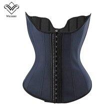 Underbust Corset Waist-Trainer Latex Sheath Tops Girdles Modeling-Straps Reducing-Belts
