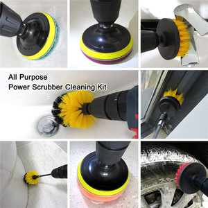 Image 3 - 5Pcs 3Pcs Power Scrubber Brush Electric Drill Brush Power Scrubber Bathroom Surface Tub Shower Tile Cleaning Tools