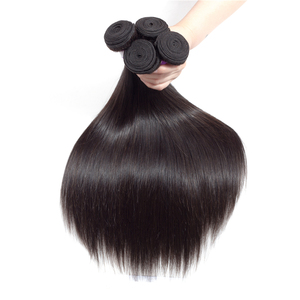 Оптовая цена, оптовая покупка, 1/3/4/6/10 лотов, бразильские волосы из натурального черного шелка, прямые 100% человеческие волосы без повреждений...