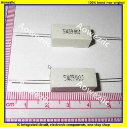 10 pces rx27 resistência de cimento horizontal 5 w 390ohm 390r 390rj 5w390rj 5 w resistência cerâmica 390rj 5% resistência de energia