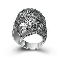 925 Real Sterling Silver Jewelry Punk Ring Men Domineering Creative Eagle Ring Christmas gift wedding band Jewelry недорого