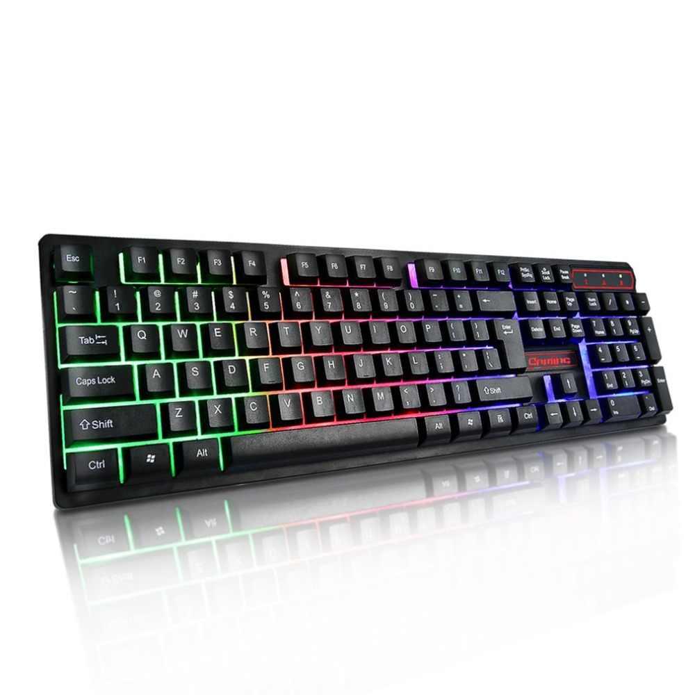צבעוני מואר משחקי מקלדת מכאני יד פלסטיק פנל צף keycap 19 מפתח