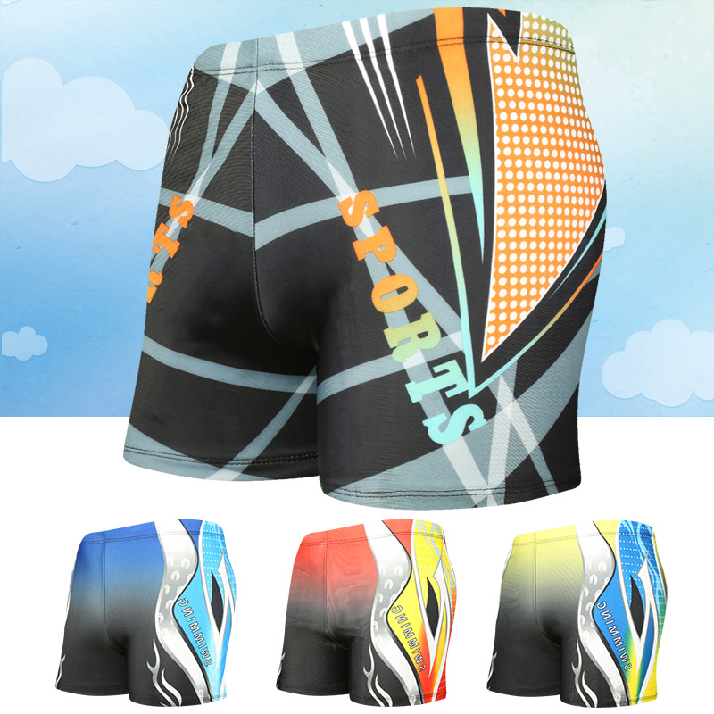 Adult MEN'S Swimming Trunks Loose And Plus-sized Quick-Dry Anti-Awkward Paragraph Swimming Shorts Yk11881