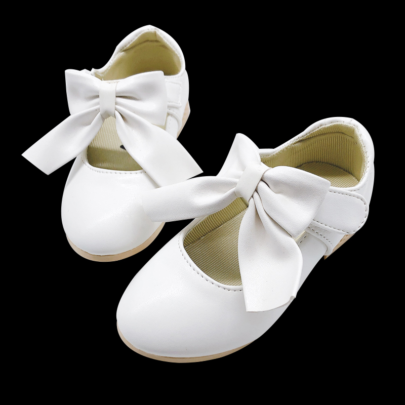 Hot Spring Bowknot Big Girls Shoes With Rose Flower Fashion Princess Slip-on Children Flat Shoes For Girls Shoes Size 26-36