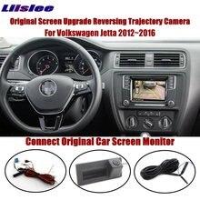 Liislee For Volkswagen Jetta 2012~2016 Compatible Original Screen Reverse Trunk Handle Camera Intelligent Dynamic Trajectory