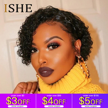 Curly Front Lace Human Hair Short Wigs Bob Wigs Remy Brazilian Hair Glueless Lace Frontal Wig For Women Natural Black Hair цена 2017
