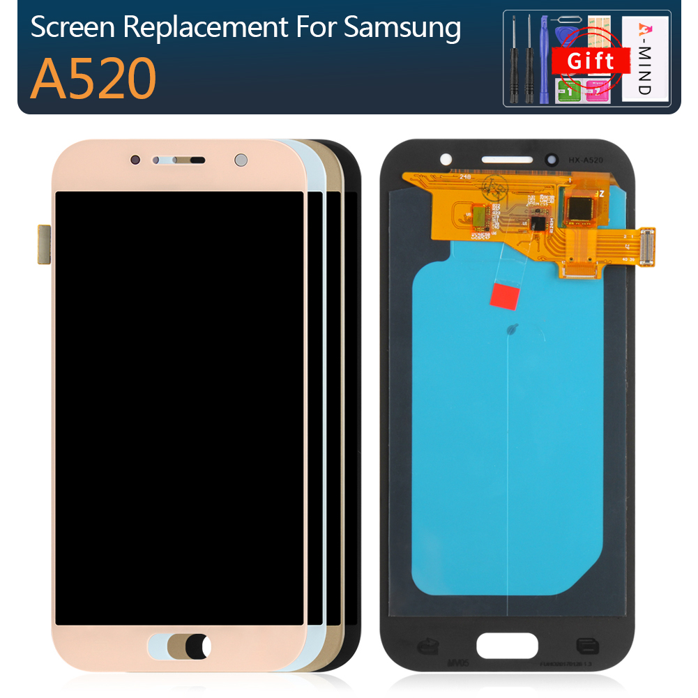 High Quality Super AMOLED <font><b>LCD</b></font> For <font><b>Samsung</b></font> <font><b>Galaxy</b></font> <font><b>A5</b></font> 2017 A520 A520F A520F/DS Phone LCDS Display Touch <font><b>Screen</b></font> Digitizer Assembly image