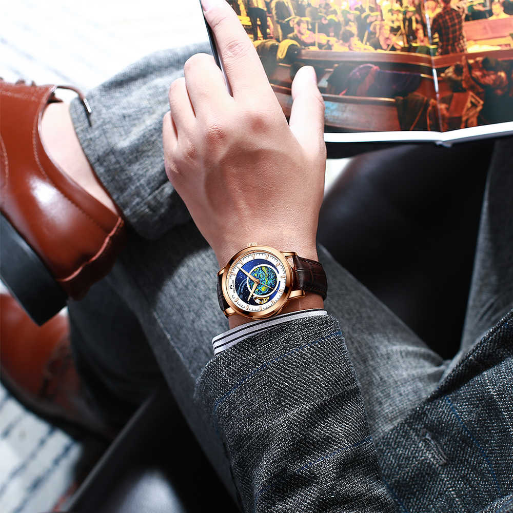 Megalith Degli Uomini Meccanici Automatici Orologi Top Brand di Lusso Automatico Maschio Orologio da Polso Impermeabile Affari Orologio Relogio Masculino 2020
