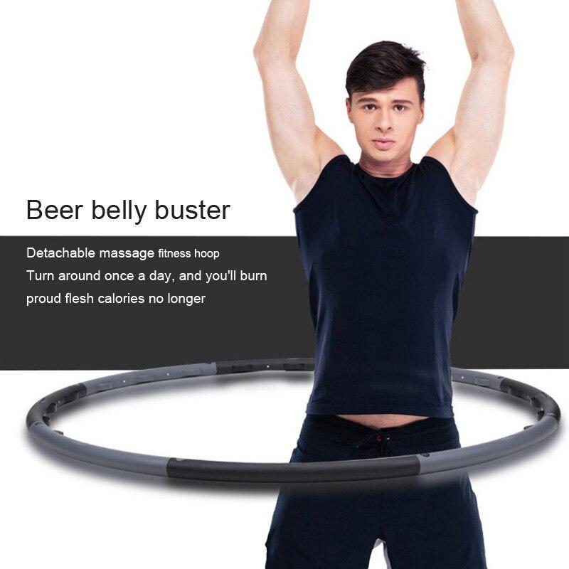 Nouveau type de massage pour hommes cerceau de sport bière ventre fitness cerceau pression abdominale doigt pression détachable anneau de fitness