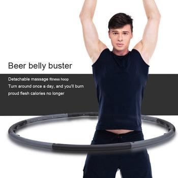 Nowy męski masaż typu sport hoop piwo brzuch fitness hoop ciśnienie brzucha palec ciśnienie odpinany pierścień fitness tanie i dobre opinie Adult Magnes 3002 100cm 1 2kg balck fitness equipment fitness body