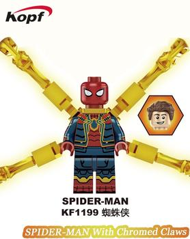 Building Blocks Far From Home Brick Spider-Man With Chromed Claws Nick Fury Happy Hoga Figures For Children Learning Toys KF1199 1