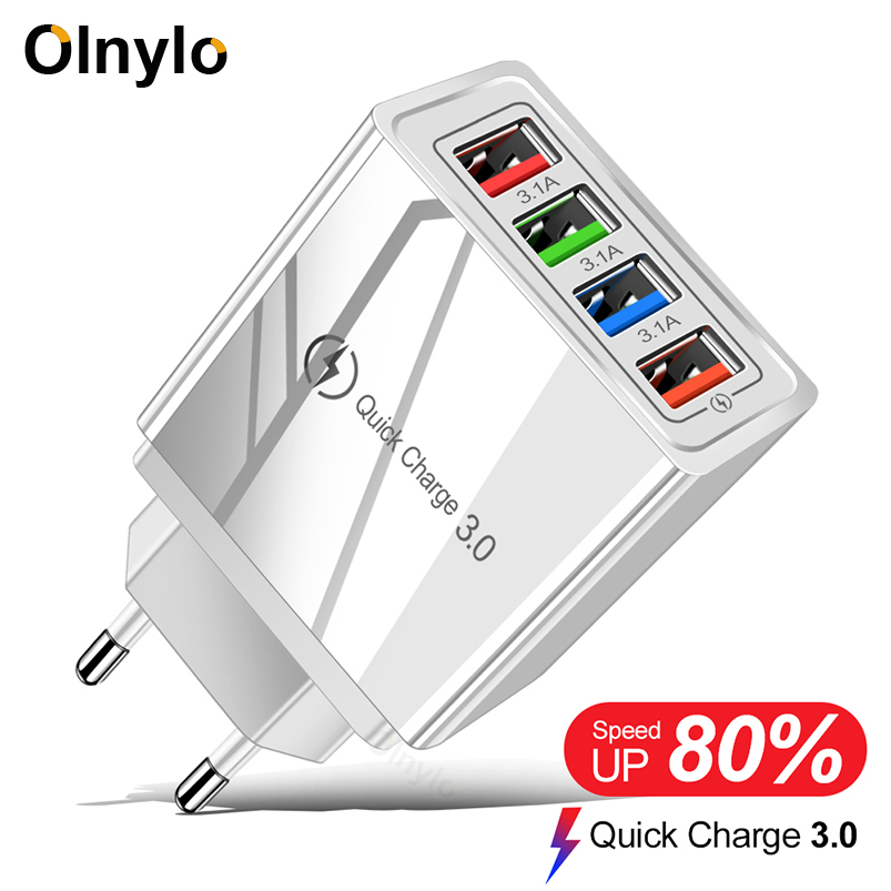 USB Charger Quick Charge 3.0 Adapter for iPhone 11 Tablet Portable Wall Mobile Charger Fast Charging for Xiaomi Mi Note 10 Pro image