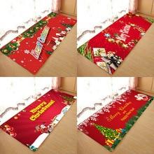 Christmas mat, Christmas holiday atmosphere, Santa Claus, Christmas elemental printed flannel home Anti-Slip absorbent mat santa claus 3d printed christmas sweatshirt