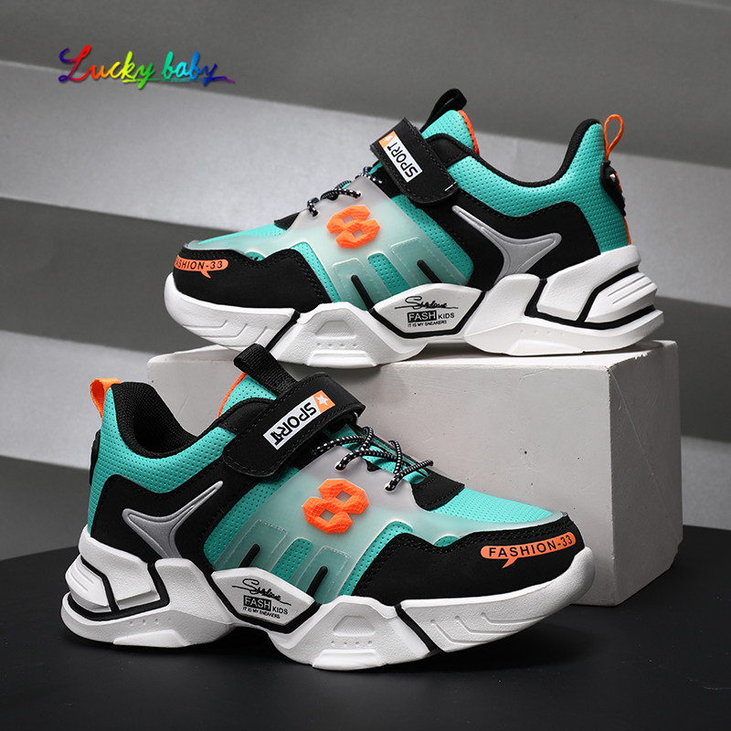 2021 Boys running shoes 6 Spring models 7 children's sneakers 8 boys Spring 9 big kids shoes Mesh surface Breathable 10 years