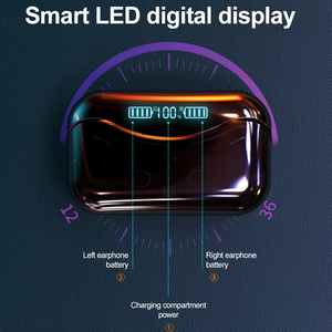 Image 3 - G08 Bluetooth 5.1 אוזניות מגע שליטה אלחוטי Headphons HiFi IPX7 עמיד למים אוזניות אוזניות עם LED תצוגת טעינת תיבה