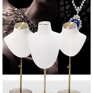White linen Jewelry Display St