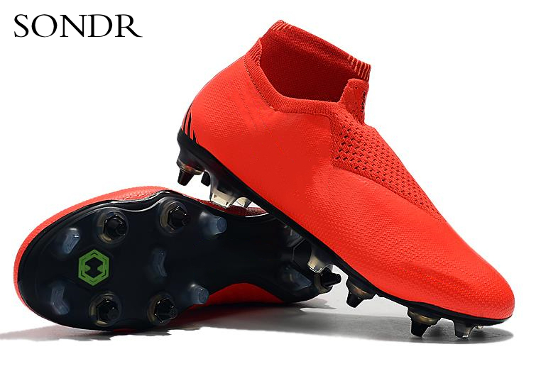 Football Boots Hot Sale Mens Soccer Cleats High Ankle Football Shoes Long Spikes Soccer Traing Boots For Men Soccer Shoes 2020