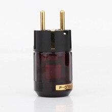 2 pièces plaqué or Schuko plug P079E EU version prises dalimentation pour câble dalimentation audio