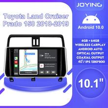 Android 10 Car Radio Stereo Head Unit Multimedia Carplay For Toyota Land Cruiser Prado 150 2018 2019 Support Canbus OEM Camera