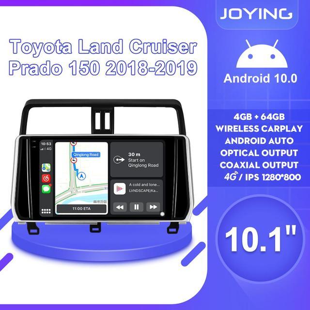 Android 10 Car Radio Stereo Head Unit Multimedia Carplay For Toyota Land Cruiser Prado 150 2018 2019 Support Canbus OEM Camera