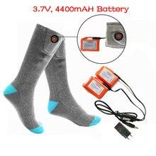 Зимние теплые носки с подогревом 37 В 4400 мА · ч аккумуляторные