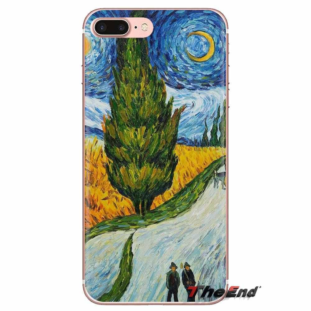 Van Gogh ภาพวาดสำหรับ LG SPIRIT Motorola Moto X4 E4 E5 G5 G5S G6 Z Z2 Z3 G2 G3 C Play PLUS MINI นุ่มโปร่งใสเปลือกกรณี