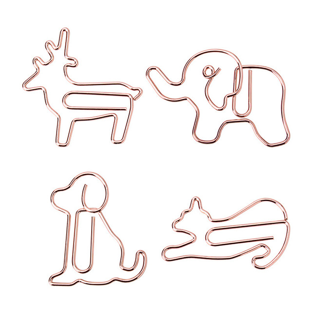 10pcs Creative Cat Shaped Paper Clip Puppy Paperclip Bookmark Memo Clip Planner Office Binding Supplie Stationary Diy Books Clip