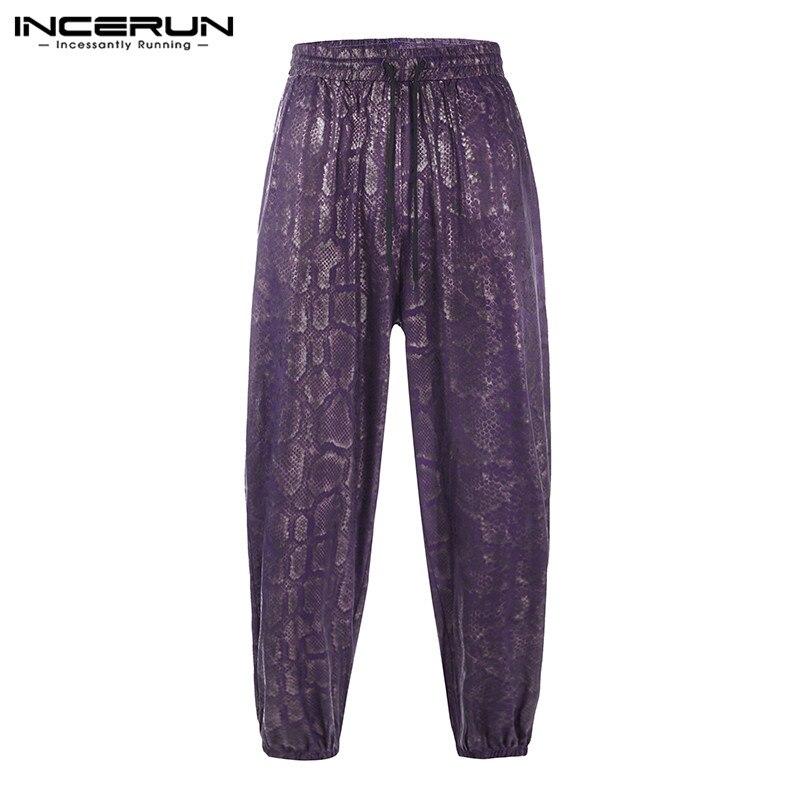 INCERUN Men Pants Printed Joggers Vintage 2019 Baggy Drawstring Streetwear Fashion Casual Trousers Men Harem Pants Plus Size 5XL