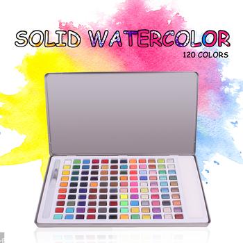 6-120 kolorów akwarela stałe akwarela zestaw podróży woda Pigment kolorowy dla początkujących rysunek akwarela dostaw papieru tanie i dobre opinie CN (pochodzenie) 3 lata 45 ml watercolor paint set Kolor farby wody iron