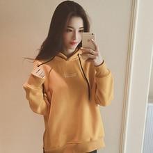 Hoodies Sweatshirt Women Fashion Plus Velvet Loose Harajuku Autumn and Winter
