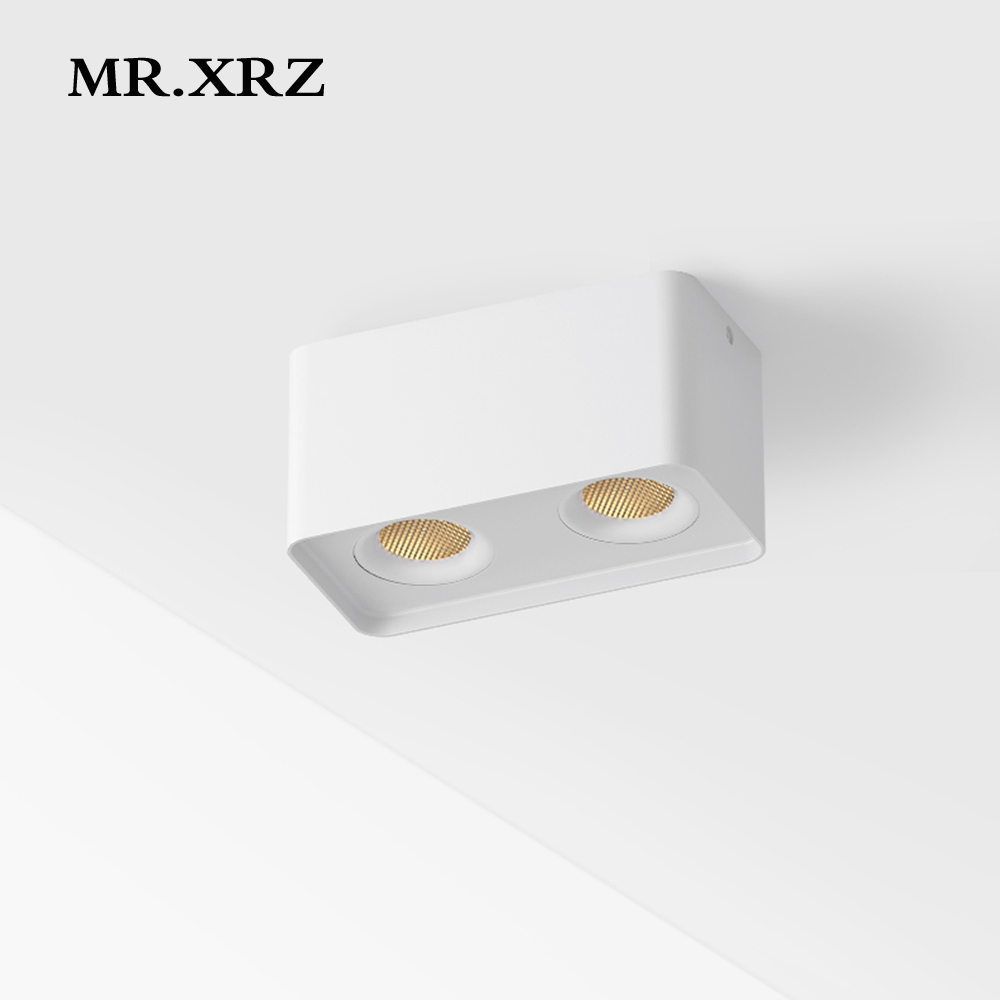 MR XRZ 10W 20W Arc Surface Mounted COB LED Spotlight AC 220V to 240V Adjustable Square Ceiling Spot Lamp For Indoor Lighting