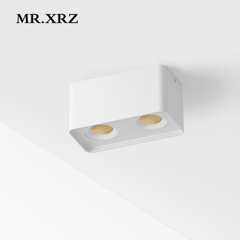 MR.XRZ 10W 20W Arc Surface Mounted COB LED Spotlight AC 220V to 240V Adjustable Square Ceiling Spot Lamp For Indoor Lighting