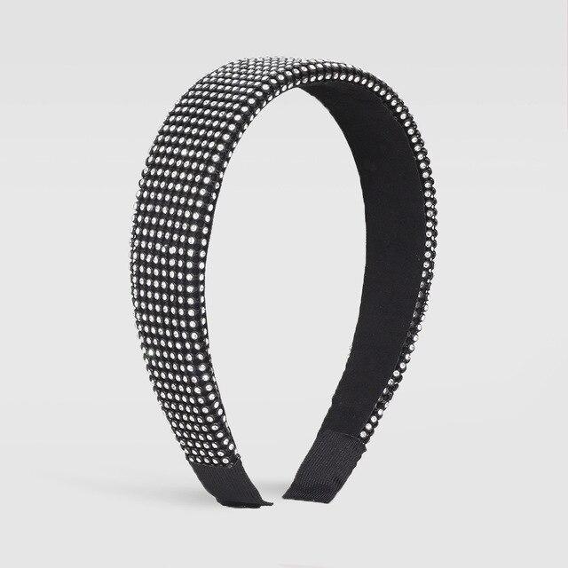 Full Luxury Padded Bling Crystal Rhinestone Wide Hairband 3